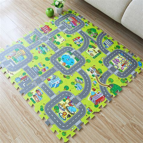 children s play mats foam 9pcs foam exercise floor mat soft puzzle