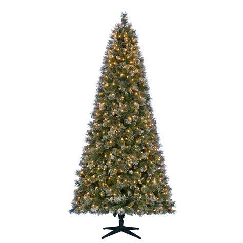 martha stewart living  ft pre lit led sparkling pine