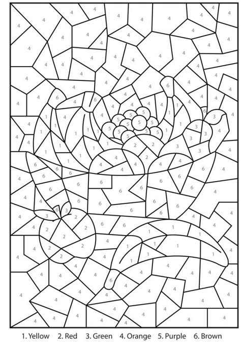 printable color  number coloring pages  coloring pages  kids