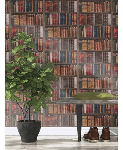 9 Ft Bookshelves by Library Books Wallpaper Rasch 934809 The Mill