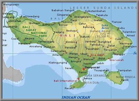 map bali paradise island bali