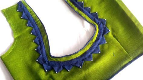blouse  neck cutting stitching   fashion
