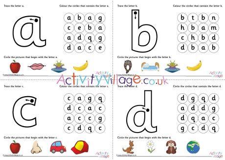 alphabet learn  letter worksheets
