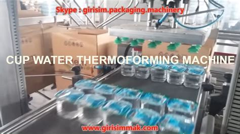 water cup machines ffs thermoforming machine iml youtube