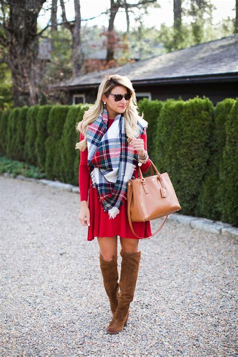 outfit christmas plaid scarf shop dandy  florida based style  beauty blog  danielle