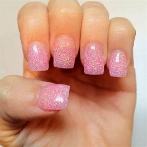 Pink Acrylic Nails With Glitter   www.imgkid.com - The ...