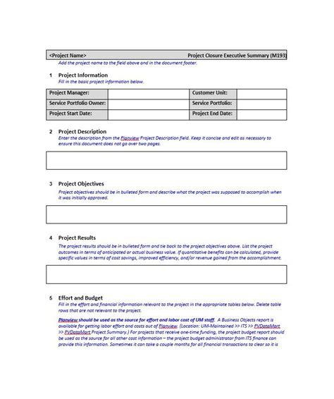 Executive Summary Template 30 Executive Summary Exles Templates