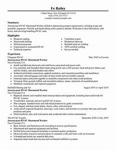 journeymen hvac sheetmetal workers resume examples With hvac resume builder