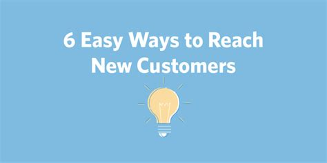 6 Easy Ways To Reach New Customers  Constant Contact Blogs