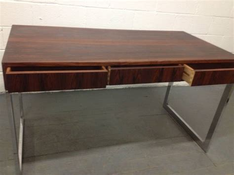 milo baughman rosewood desk milo baughman rosewood and chrome desk at 1stdibs