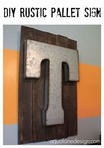 diy rustic pallet sign made from old pallets and metal With giant wooden letters hobby lobby