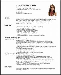 Modelo Curriculum Vitae Auxiliar Administrativa De Bienes Ra U00edces