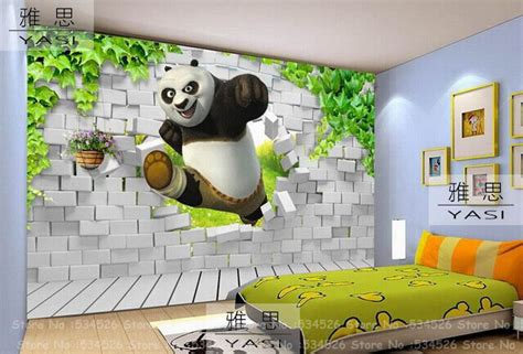 Hand Crafted Kids Room Wallpaper Scenes Mountain Computer