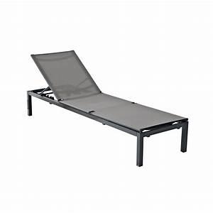 Bain De Soleil Gris : bain de soleil de jardin en aluminium niagara gris leroy ~ Dode.kayakingforconservation.com Idées de Décoration
