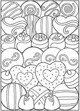 Coloring Dessert Pages Printable Valentine Desserts Adult Books Sheets Valentines Dover Creative Colouring Designer Birthday Candy Haven Publications Heart Cards sketch template