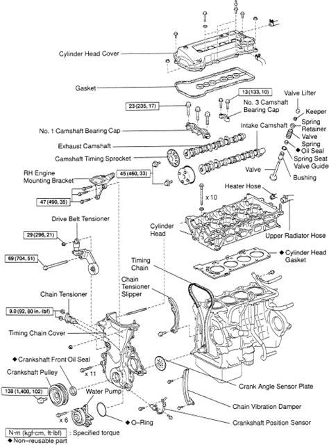 98 Corolla Engine Diagram by 98 99 Chevrolet 1 8l Dohc Corolla Timing Chain Kit 1zzfe