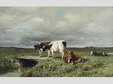 Anton Mauve 18381888 Cattle in an extensive polder