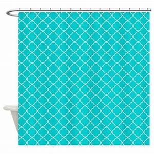 dark turquoise quatrefoil pattern shower curtain by With dark turquoise curtains