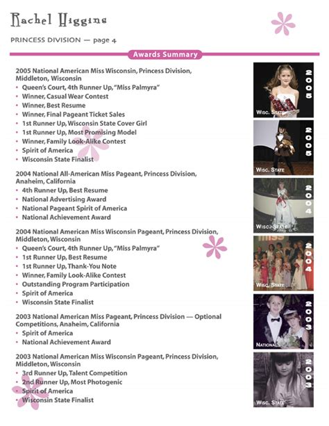National American Miss Resume Form by National American Miss Pageant Hairstylegalleries