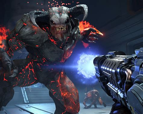 doom eternal  game hd screenshot preview wallpapercom