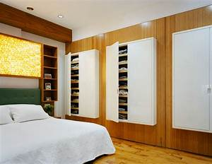 wall-storage-units-Bedroom-Contemporary-with-built-in-bed