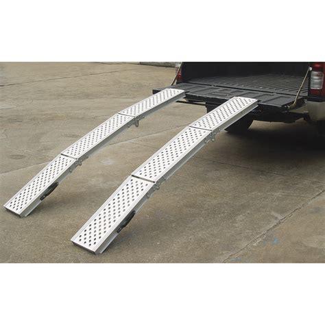 ultra tow folding arched aluminum loading ramp set