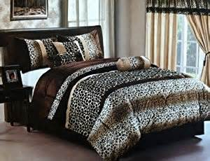 amazon com new safari brown leopard giraffe skin print micro fur king size comforter 7pcs