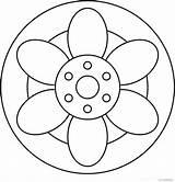 Mandala Ausmalen Amind Elfen Gemälde Rangoli Mosaikmuster Coloriage sketch template