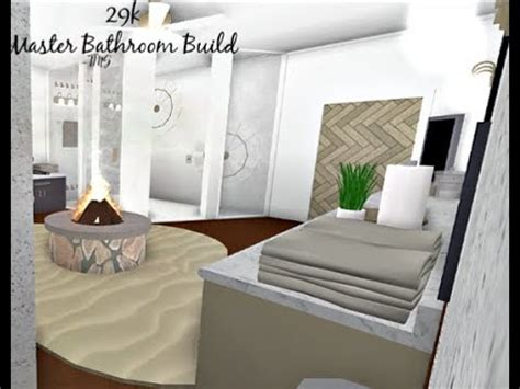 bloxburg master bathroom build   youtube