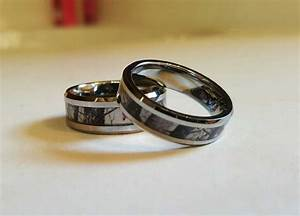 couples 2 ring set tungsten carbide birch tree camo With couples wedding ring set