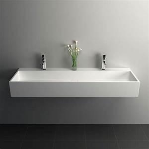 plan vasque salle de bain suspendu 120x40 cm mineral With plan vasque salle de bain 90 cm
