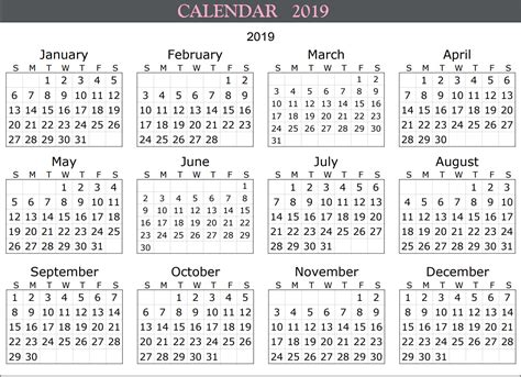 10 Best 2019 Calendar Designs Ideas