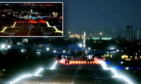 birmingham airport night footage showing pilots battle