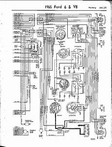 1965 Ford 6  U0026 V8 Mustang Right Wiring Diagram  59494