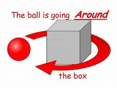 Preposition Move Around Prepositions Ball Across Going