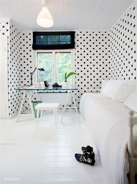 diy wall dressings polka dot designs  add sophistication