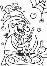 Coloring Halloween Witch Stew Colouring Witches Para Adult Br Google sketch template