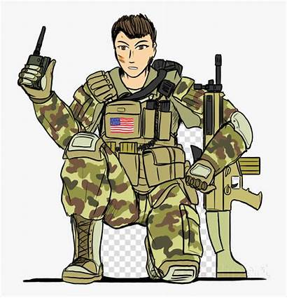 Soldier Cartoon Uniform Army Clipart Police Transparent
