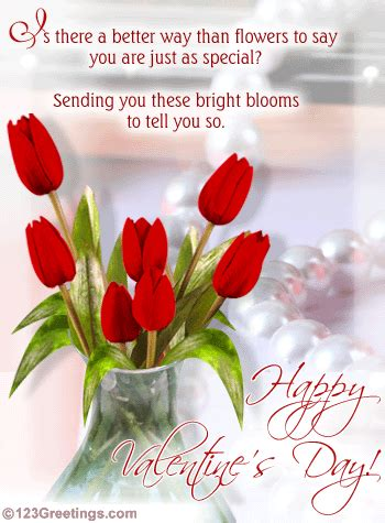Happy Valentine's Day Cards With Flowers