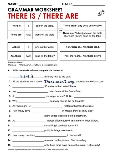 133 Best There Is And There Are Images On Pinterest  English, English Classroom And English