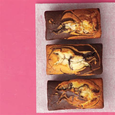 chocolate vanilla marble cakes
