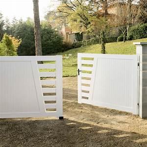 Leroy Merlin Portail : portail battant pvc cedrela blanc x cm ~ Nature-et-papiers.com Idées de Décoration