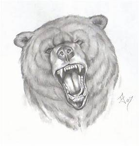 Very angry bear face tattoo design - Tattoos Book - 65.000 ...