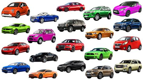 Cars Names by A To G Brand Of Cars Names Of Cars Learn Transportation