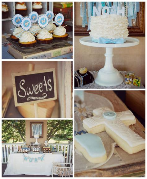 karas party ideas vintage christening baby blessing party