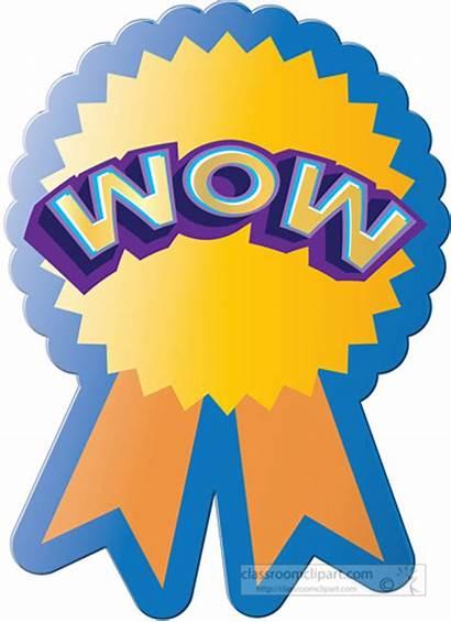 Sticker Clipart Award Wow Motivational Attendance Perfect