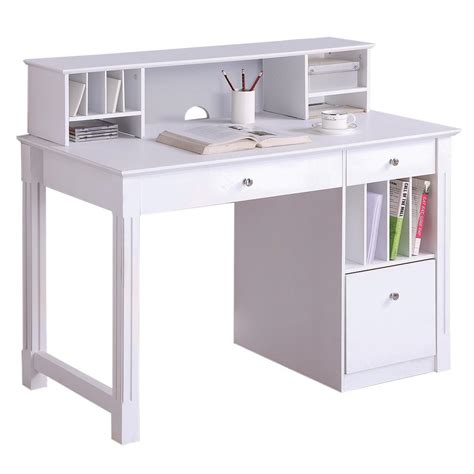 desk ls target stores walker edison deluxe solid wood desk w hutch white by