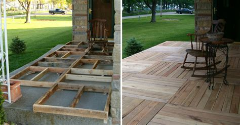 pallet wood front porch