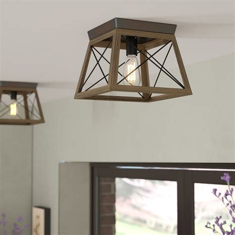 laurel foundry modern farmhouse delon  light flush mount
