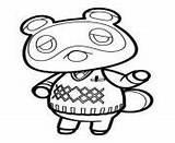 Crossing Animal Coloring Coloriage Nook Tom Printable Head Kawaii Dessin sketch template